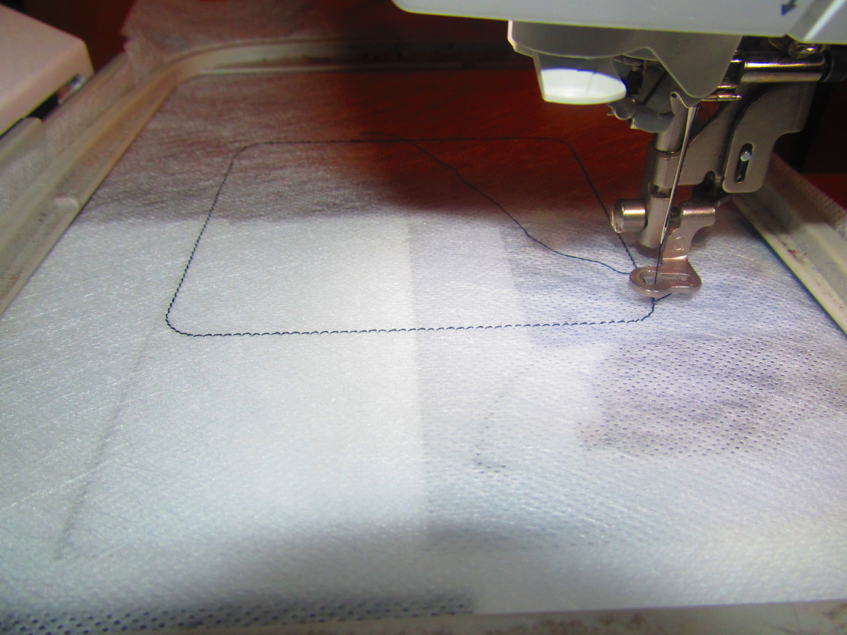 Patches normally have several steps, the first one is to show you where to place your fabric.