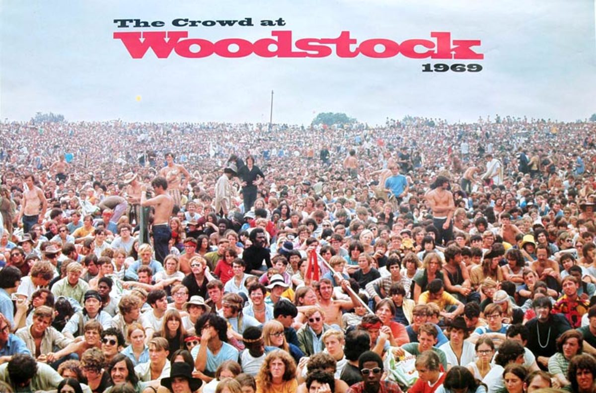 The Crowd at Woodstock 1969-Source: http://www.shellyrusten.com/warners_poster.htm