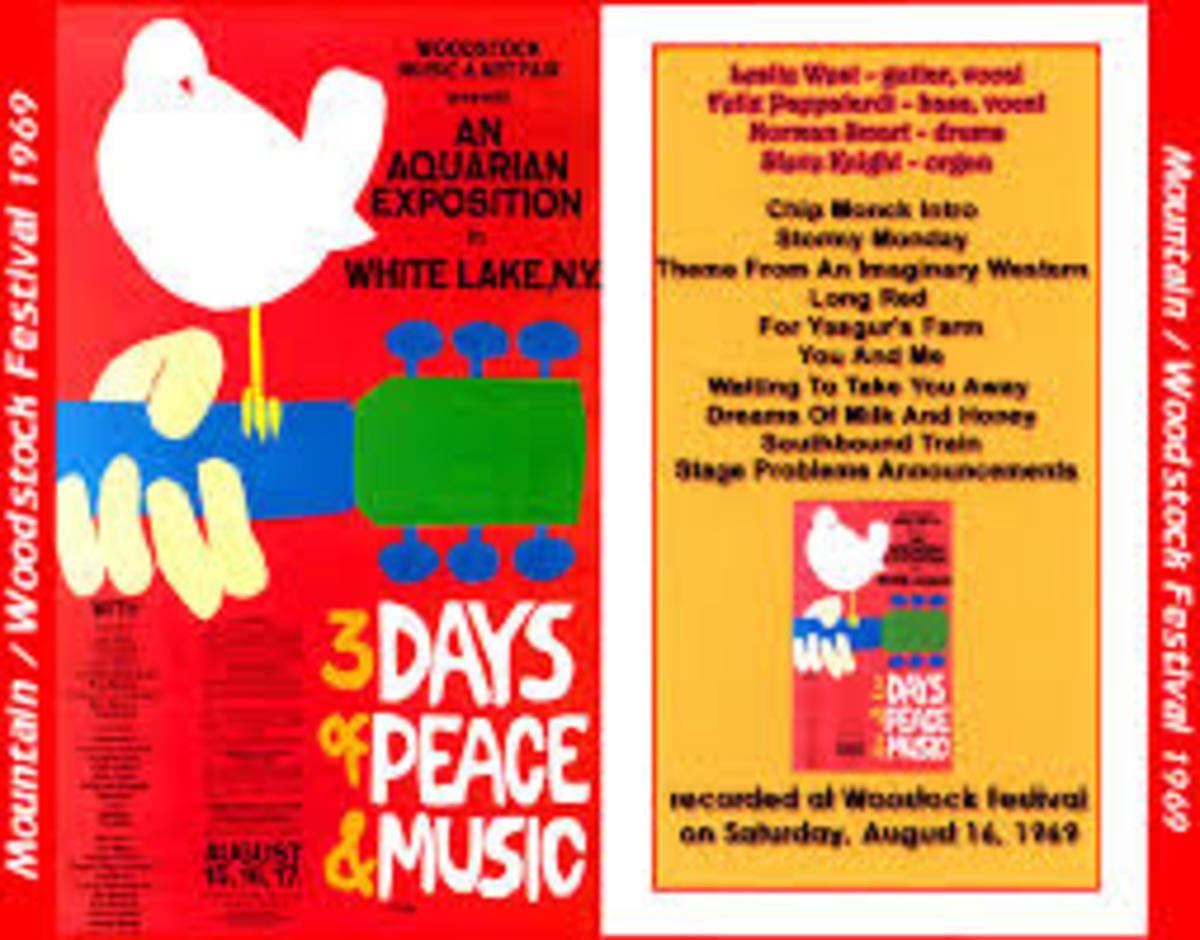 Woodstock Promo Poster-Source: http://musictravellerstwo.blogspot.com/2009/11/mountain-1969-08-16-woodstock-festival.html