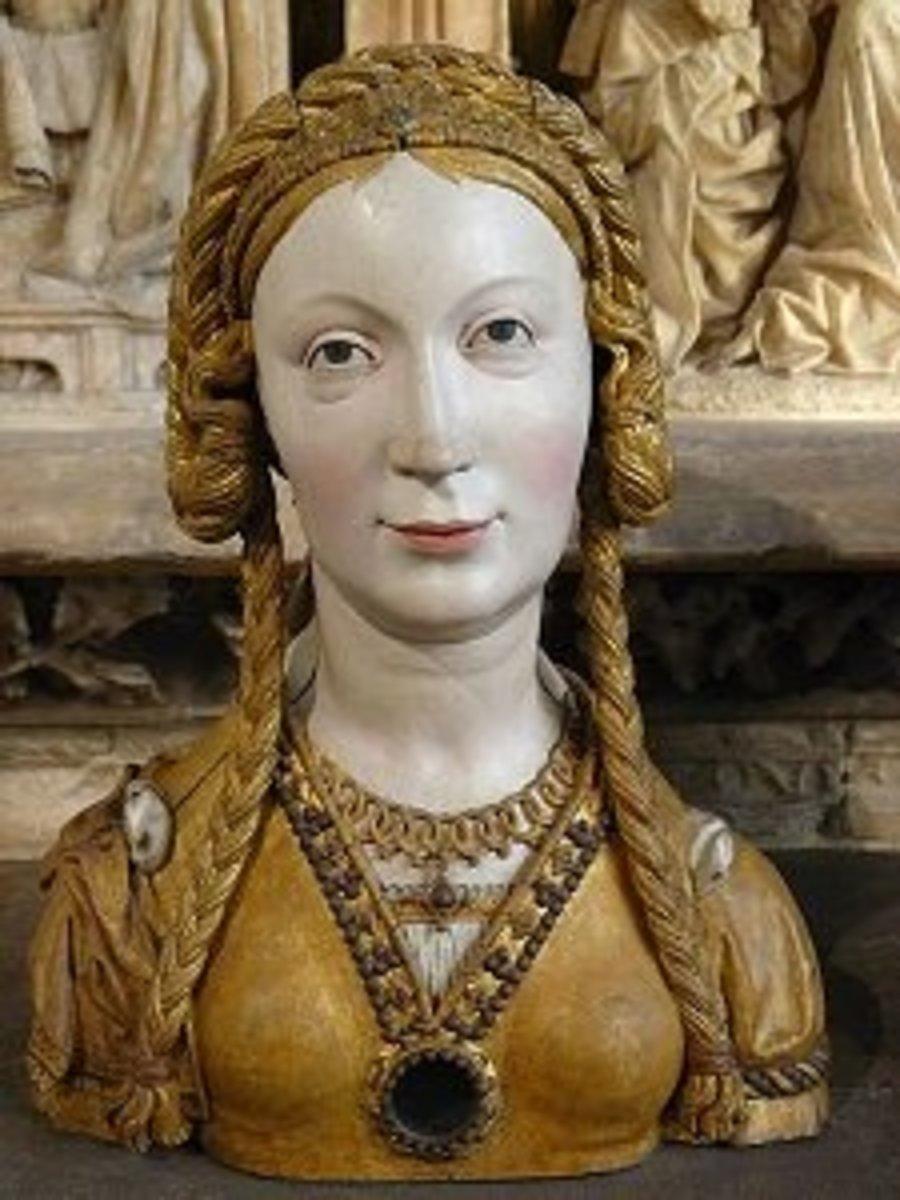 Carving of a female saint by a Dutch artist.