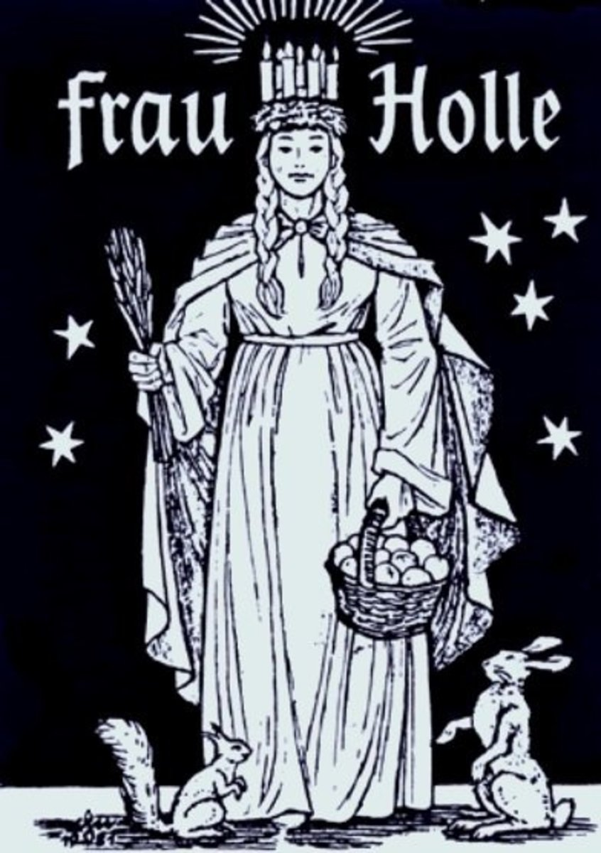 A popular depiction of Frau Holle