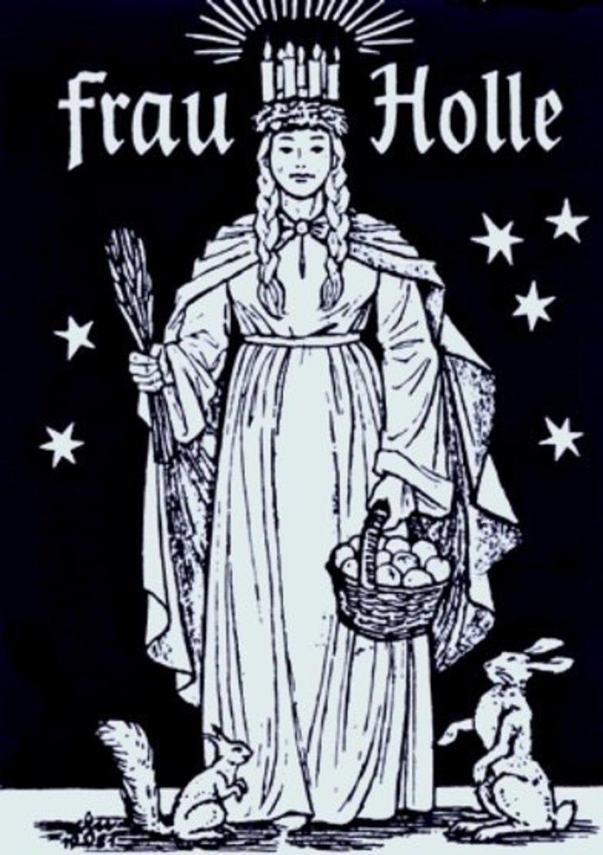 A popular depiction of Frau Holle