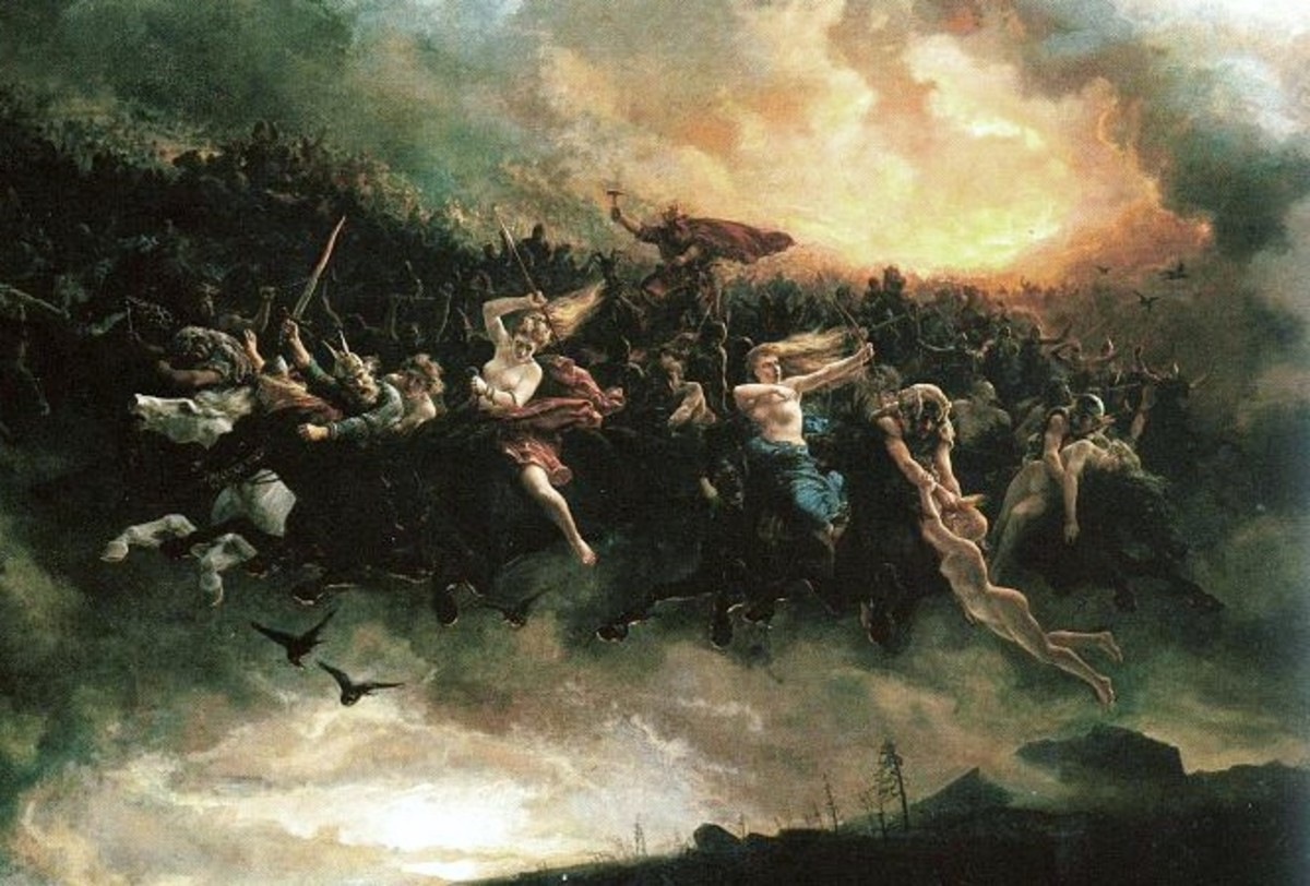 The Wild Hunt as depicted by Peter Nicolai Arbo in 1872.