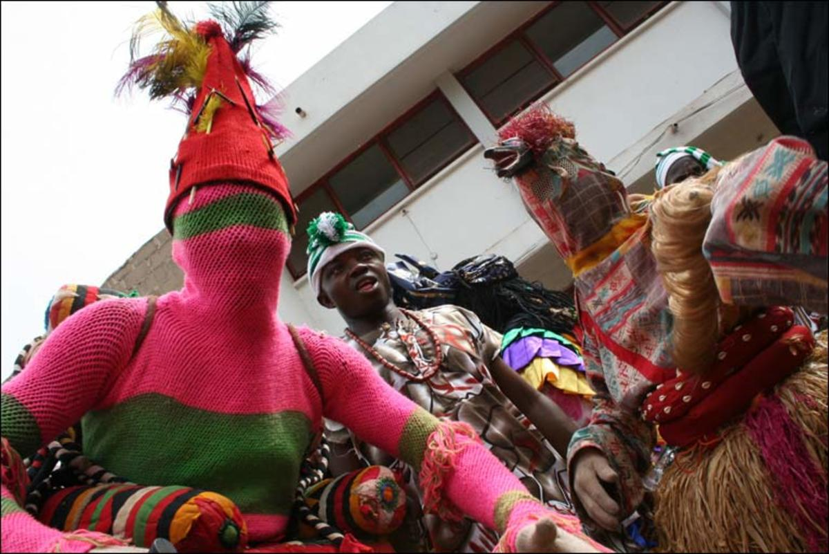 Traditional  African masquerade