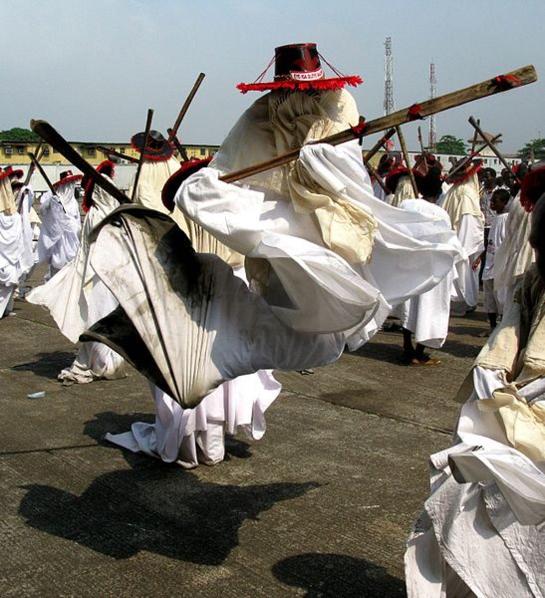 The Eyo masquerade of  Lagos
