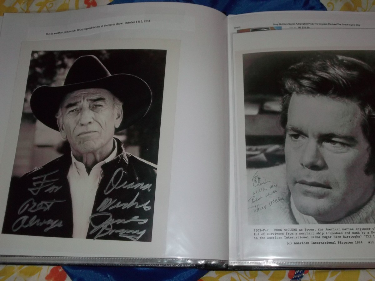 I personally witnessed the James Drury autograph and I bought the Doug McClure from an Ebay seller which explains why it is addressed to Charlie.
