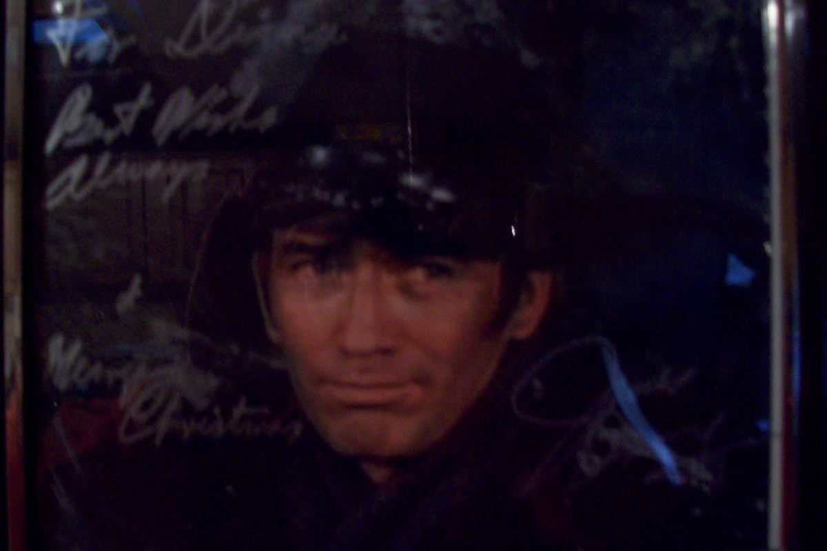 In 2011, I got a special Christmas greeting from James Drury. I keep this one in a frame on the wall over my desk.