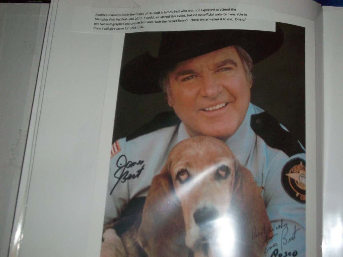 I got this treasure from James Best official website in 2013. Sadly James Best passed away in April 2015. RIP