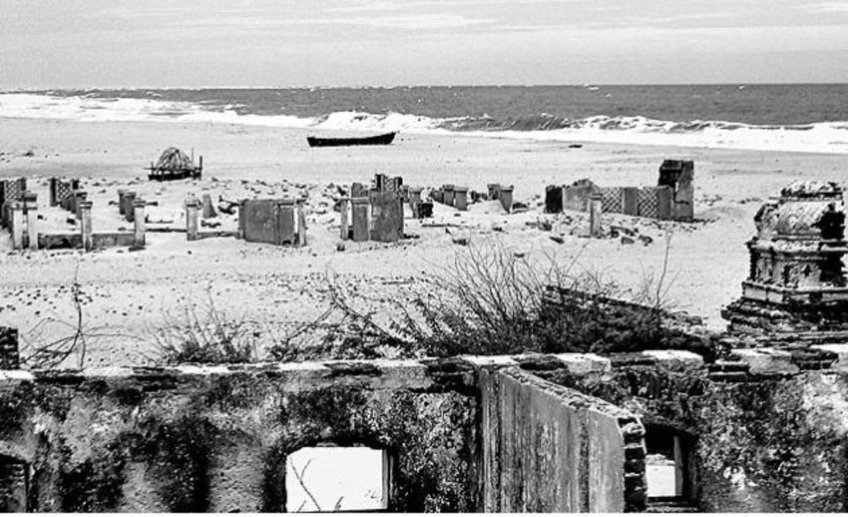 Ruins After The 1964 Dhanushkodi Cyclone.