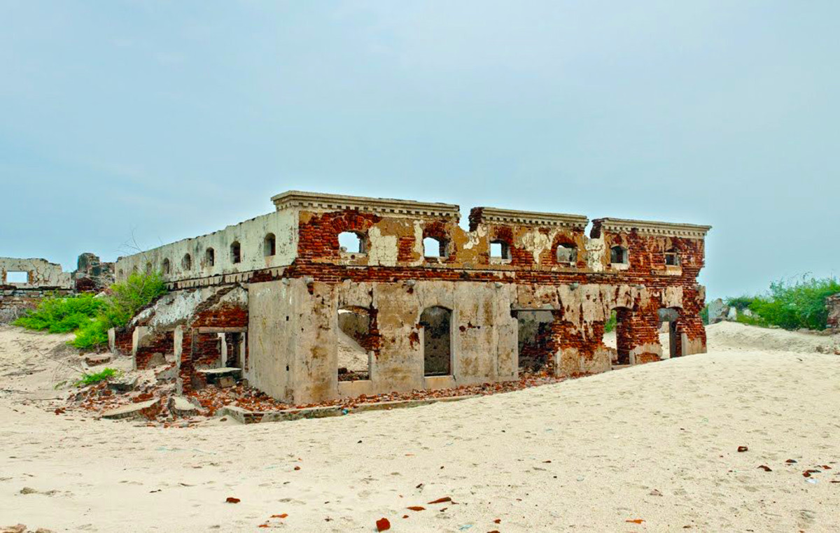 The Ruins Of A Building Believed To Be The Dhanushkodi Post Office.