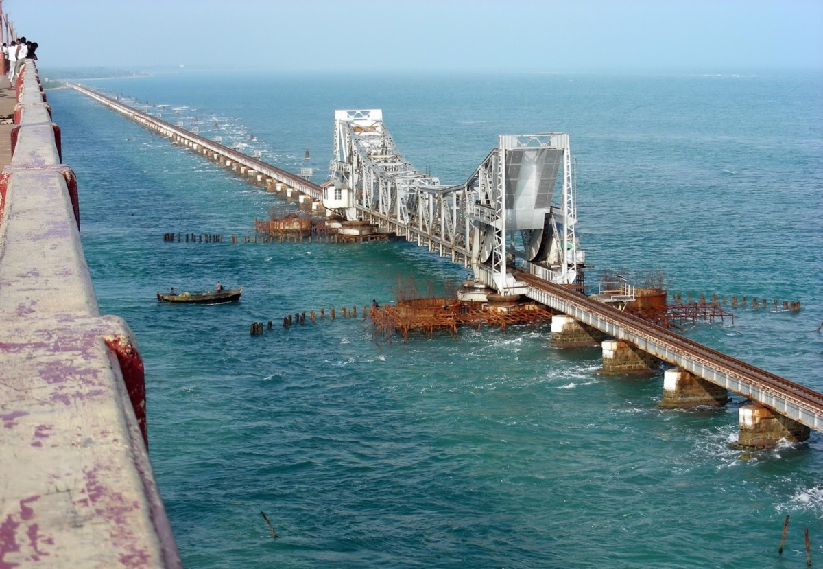 The Reconstructed Pamban Rail Bridge.