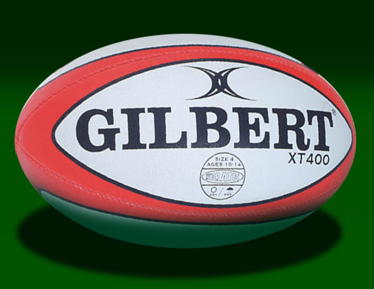 A Gilbert rugby football as used in rugby union