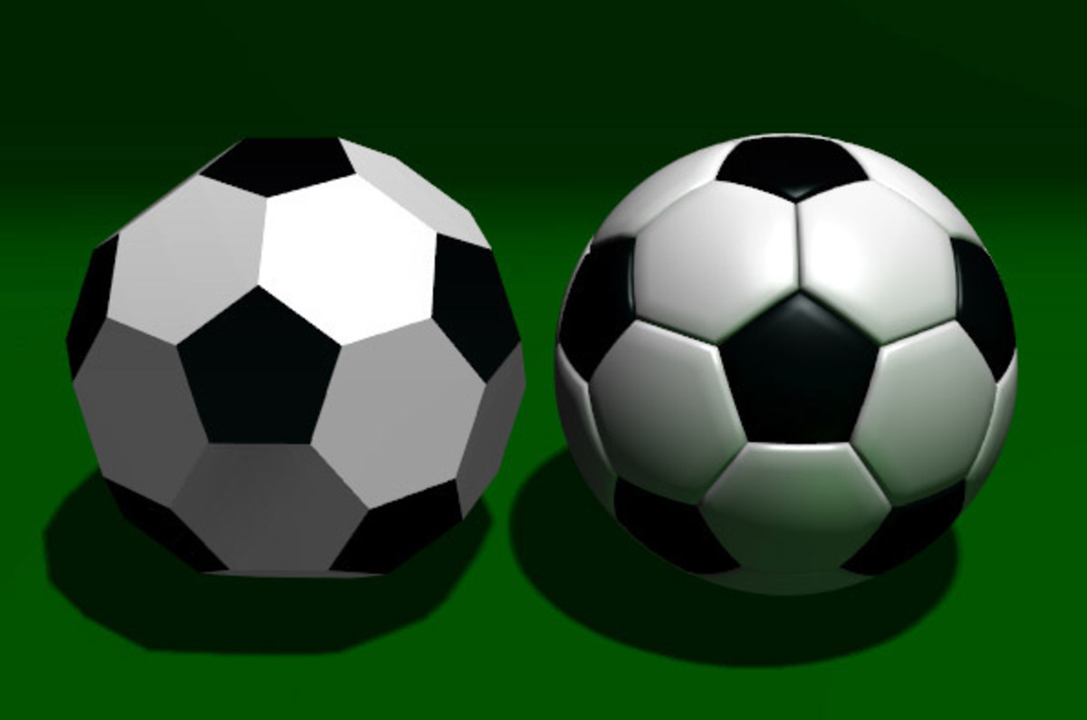soccer balls are well known by their Truncated icosahedron patter