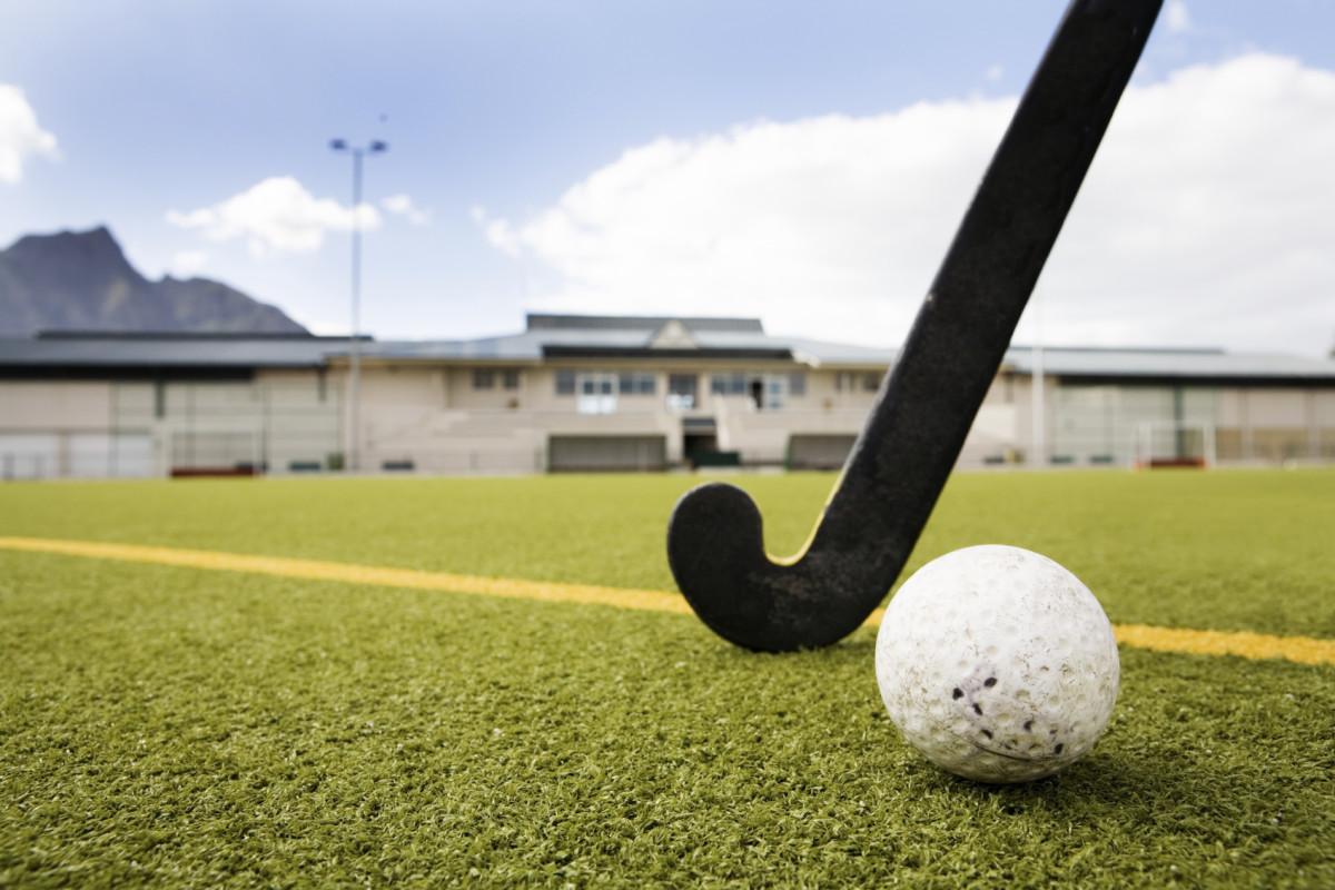 Hockey ball with stick