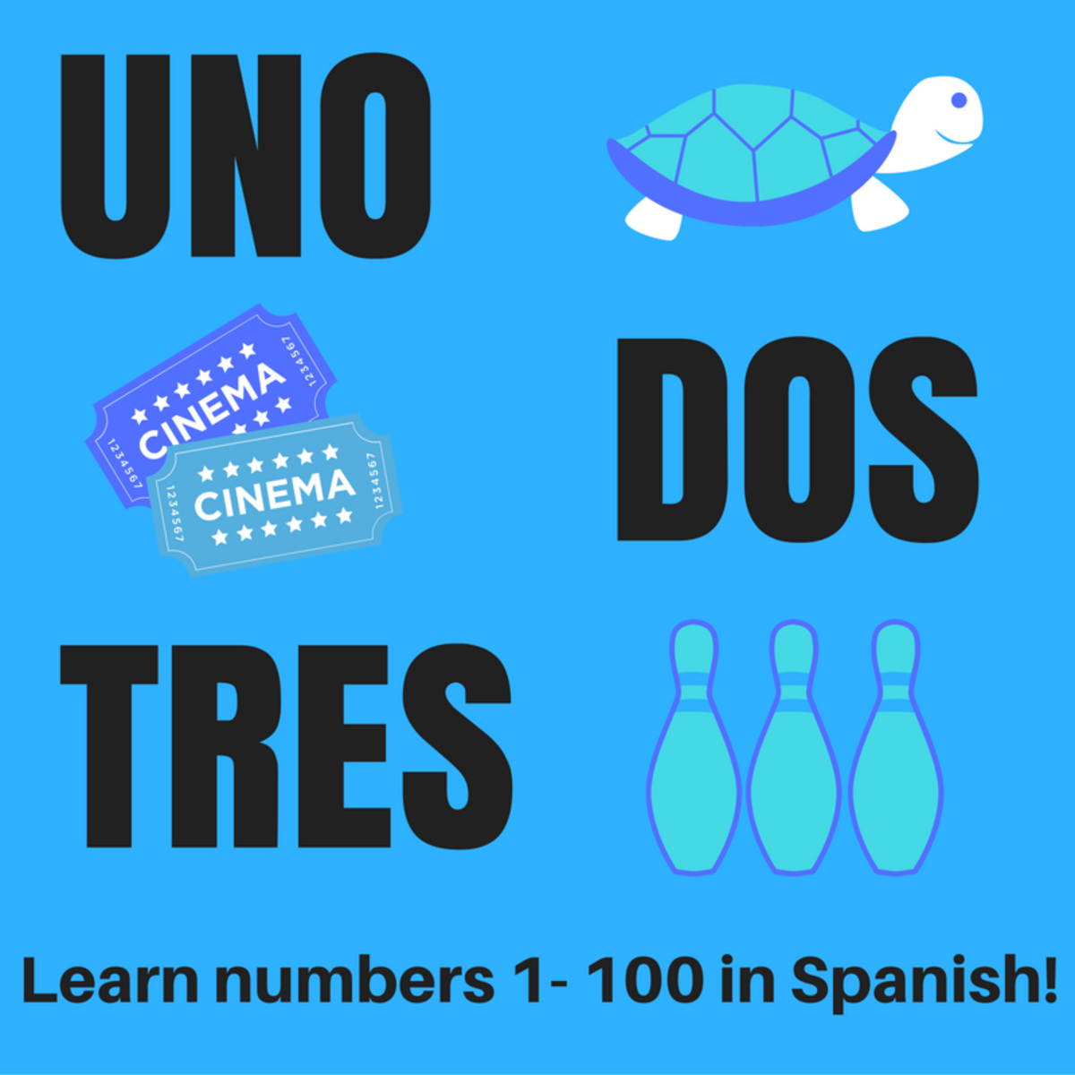 Learn Spanish: Numbers 1-100