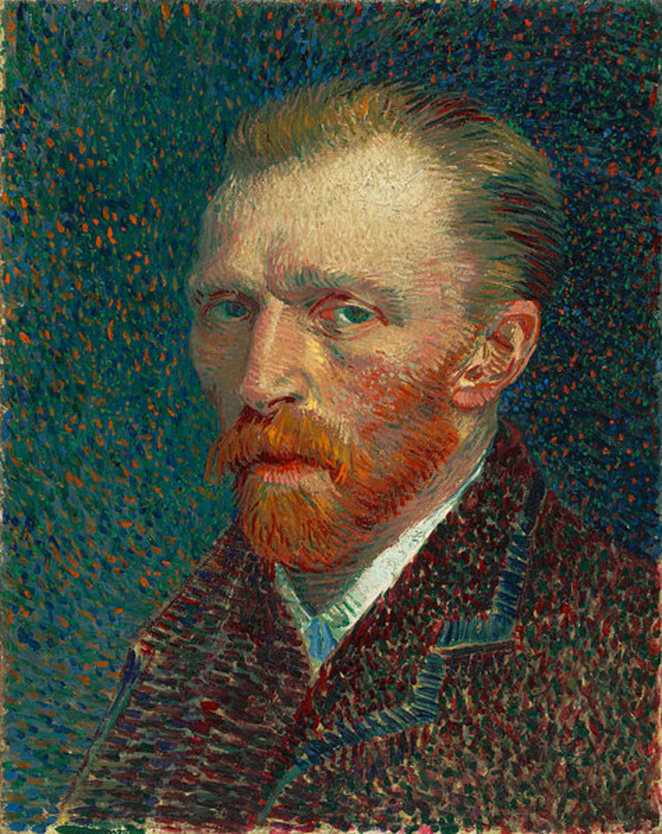 Van Gogh's self portrait from Spring 1887