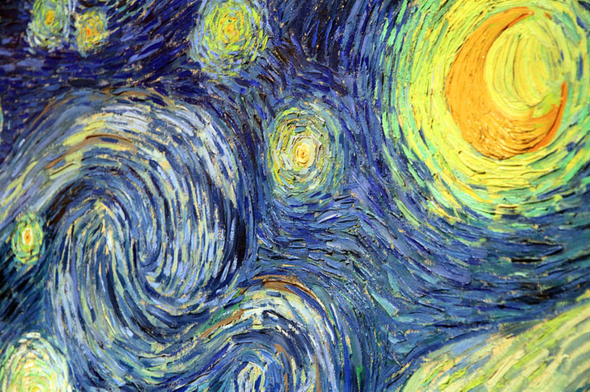 An enlargement of the painting to see all of the fine detail Van Gogh included.