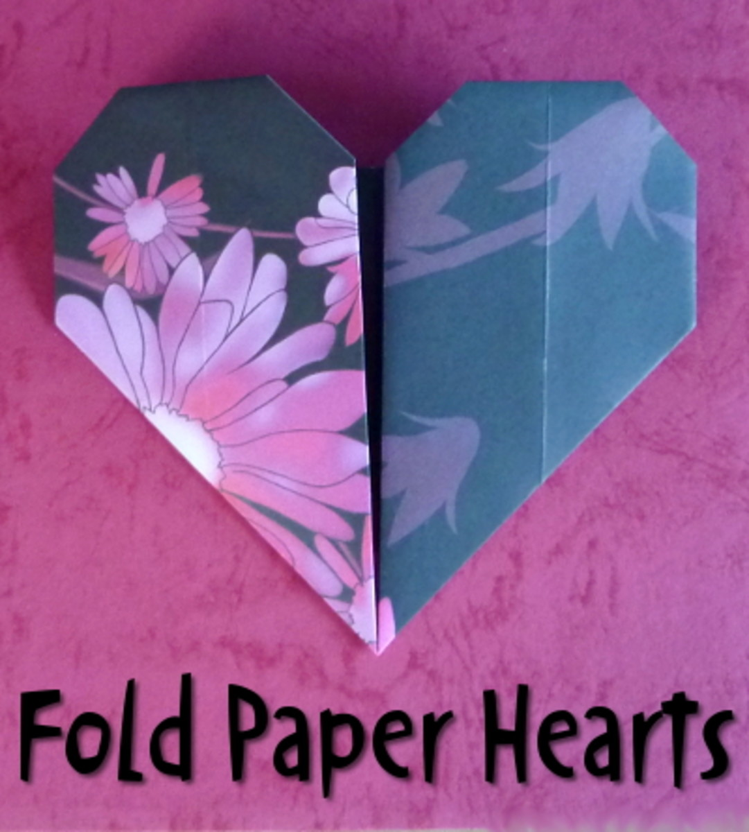 Make fast heart shapes from patterned papers