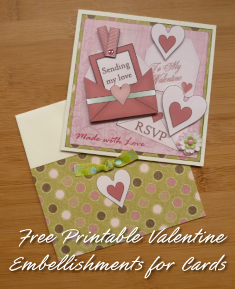 Sending my Love Card Tutorial and Free Printables for Valentine's Day