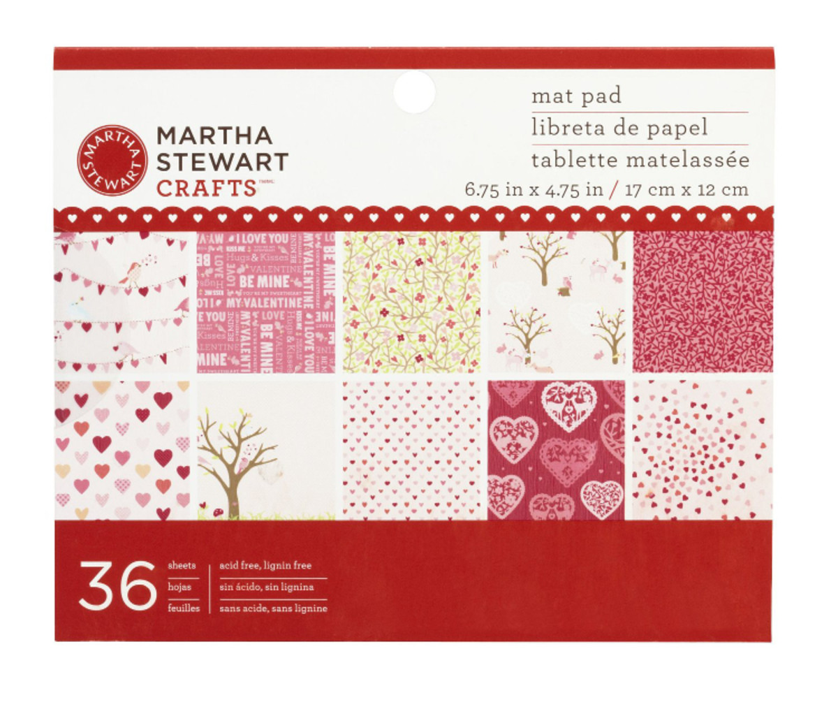 Enchanted woodland paper by Martha Stewart with lots of hearts for Valentine's Day