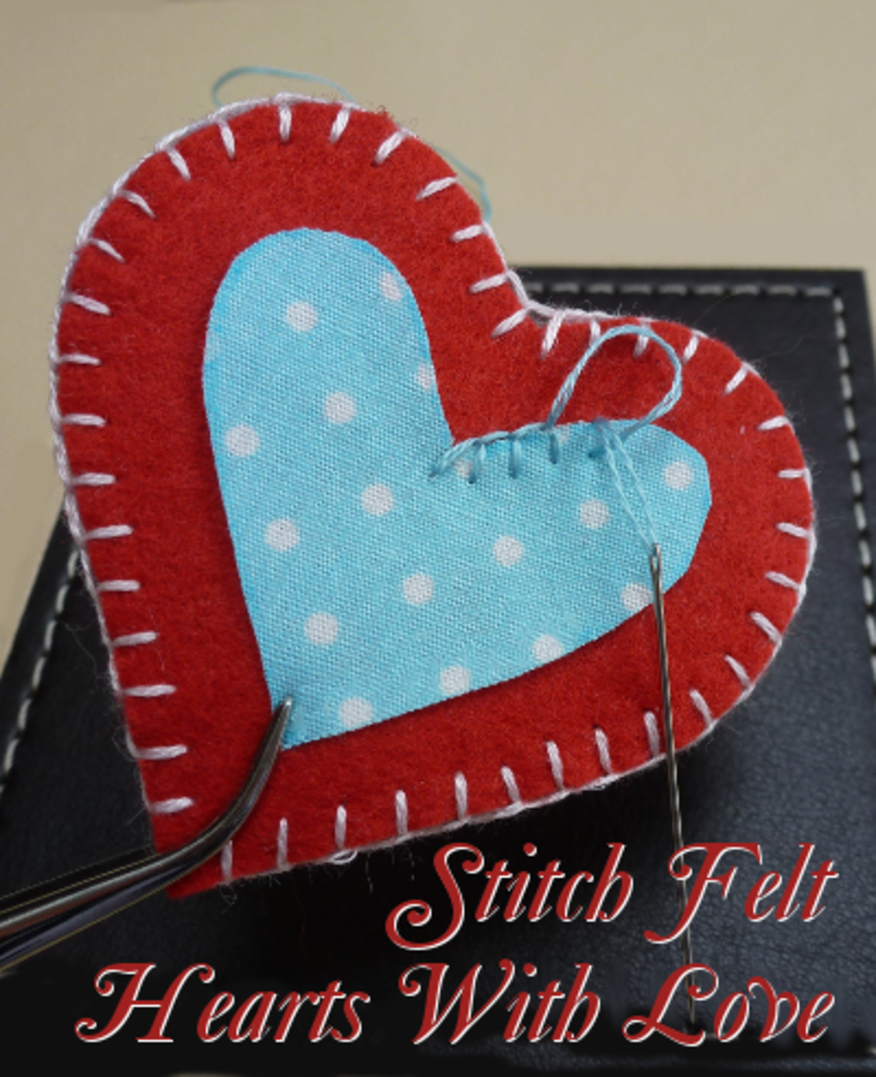 Make some stuffed plush love hearts from felt and fabric