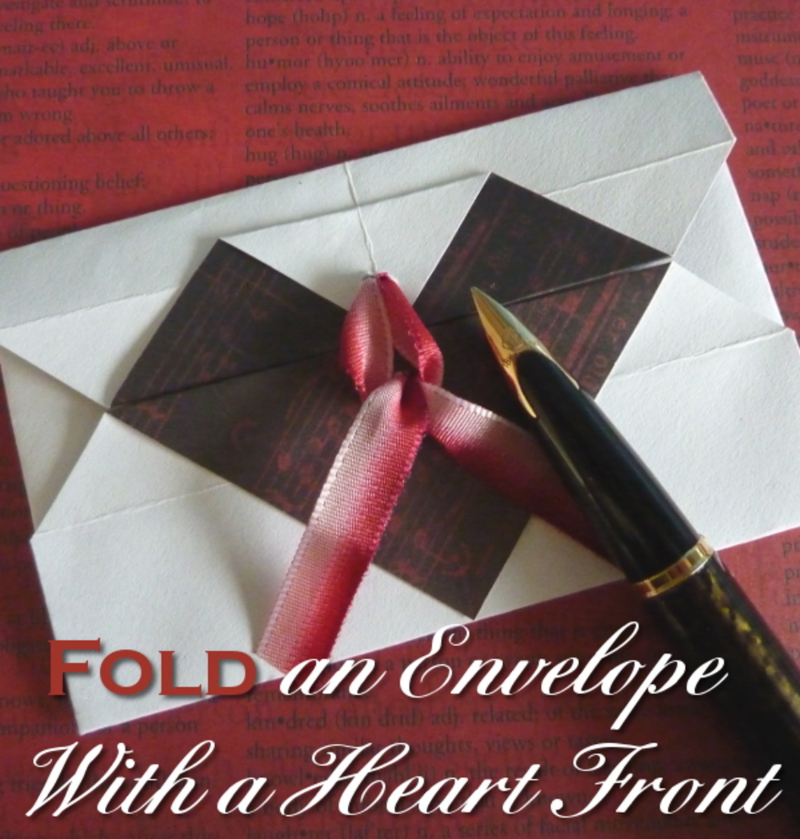 Make a letter from the heart this Valentine's Day by doing some paper folding