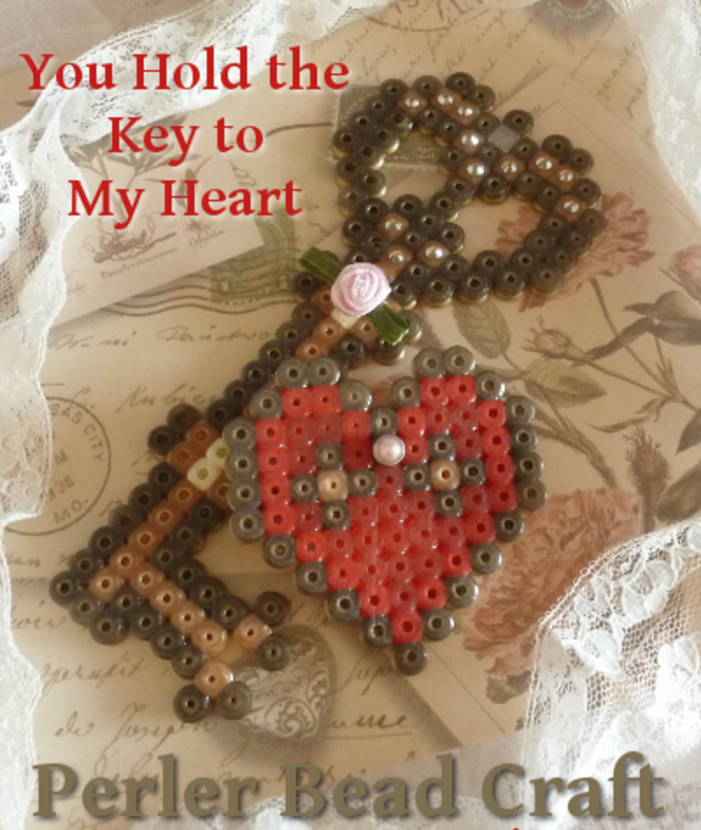 You're the key to my heart perler fused beads