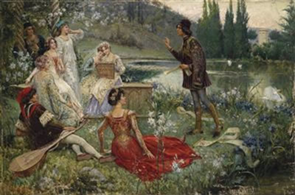 """Painting from the"""" Decameron"""""""
