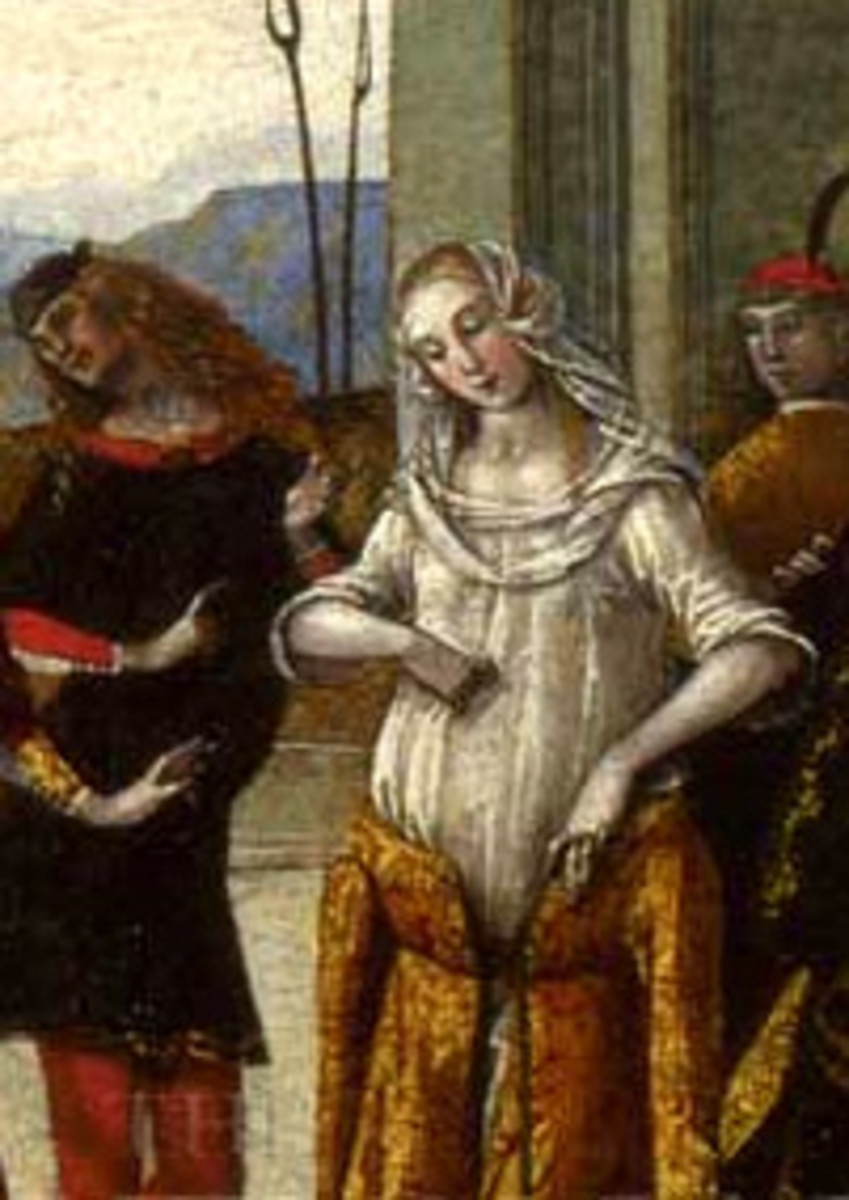 """""""The Story of the Patient Griselda,"""" one of the tales from the """"Decameron.""""  Painted circa 1500, painter unknown."""