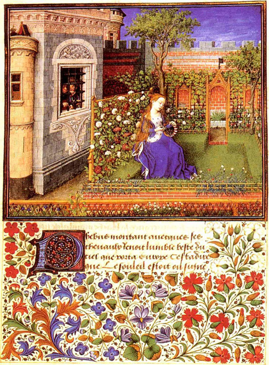"Original illustrated manuscript of ""Teseida"" one of Boccaccio's earlier poems."
