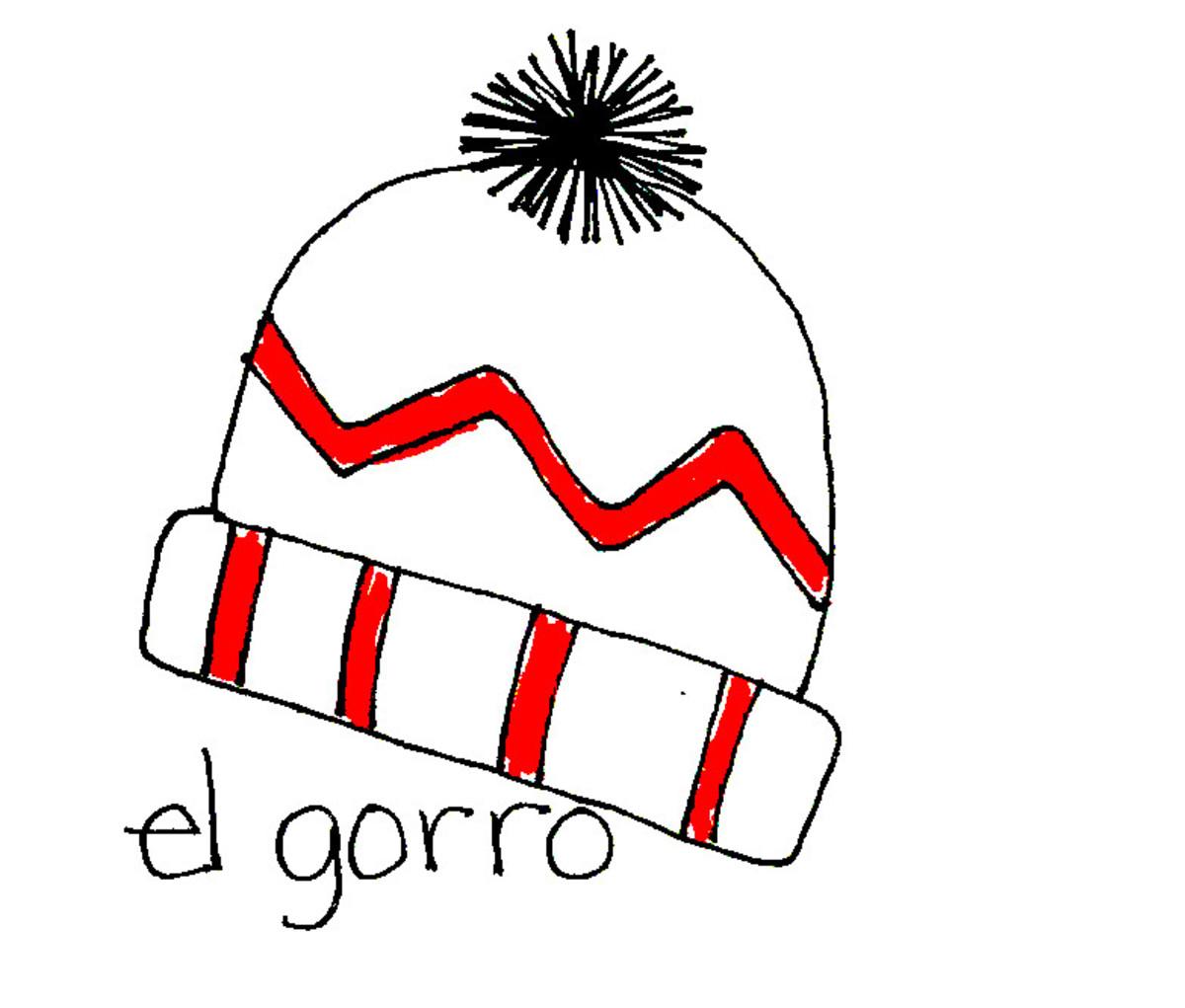 Wool knit hat in Spanish