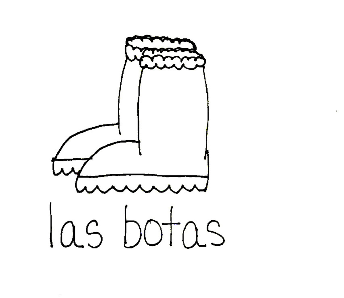 Boots in Spanish