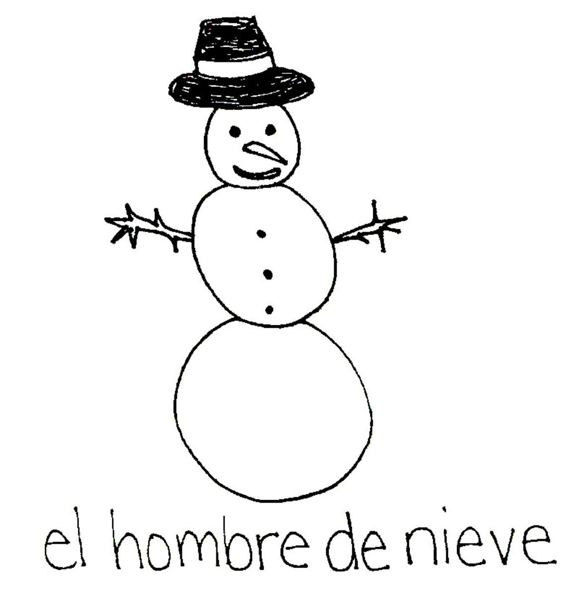 Snowman in Spanish