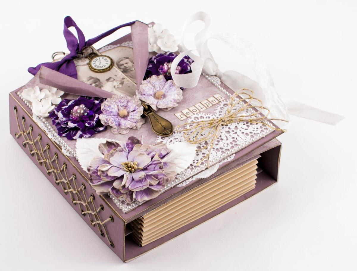 Click on each photo to enlarge Directions to make this Recipe Box are at the Tara's Craft Studio link