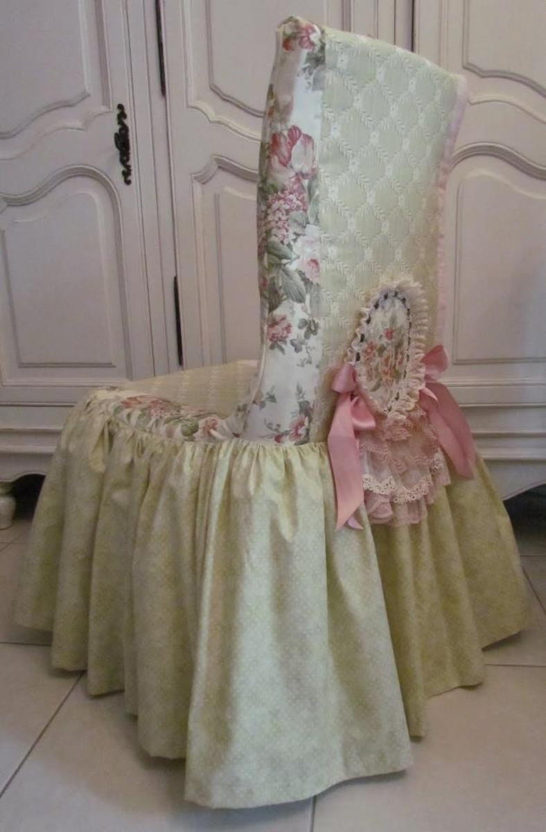 shabby chic dining room chair covers | 101 Prettiest Pinterest Shabby Chic - My Picks | HubPages