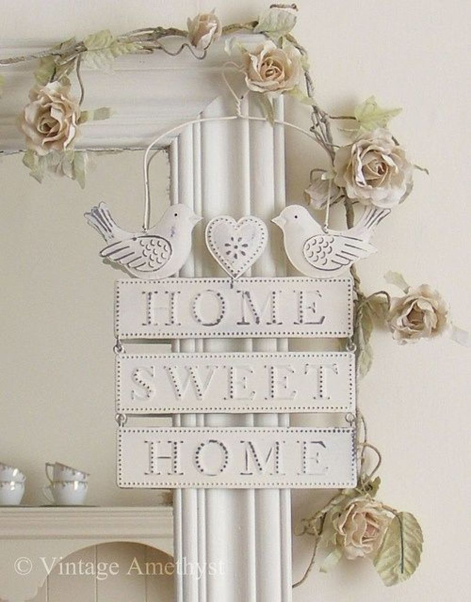 Shabby chic Home Sweet Home sign
