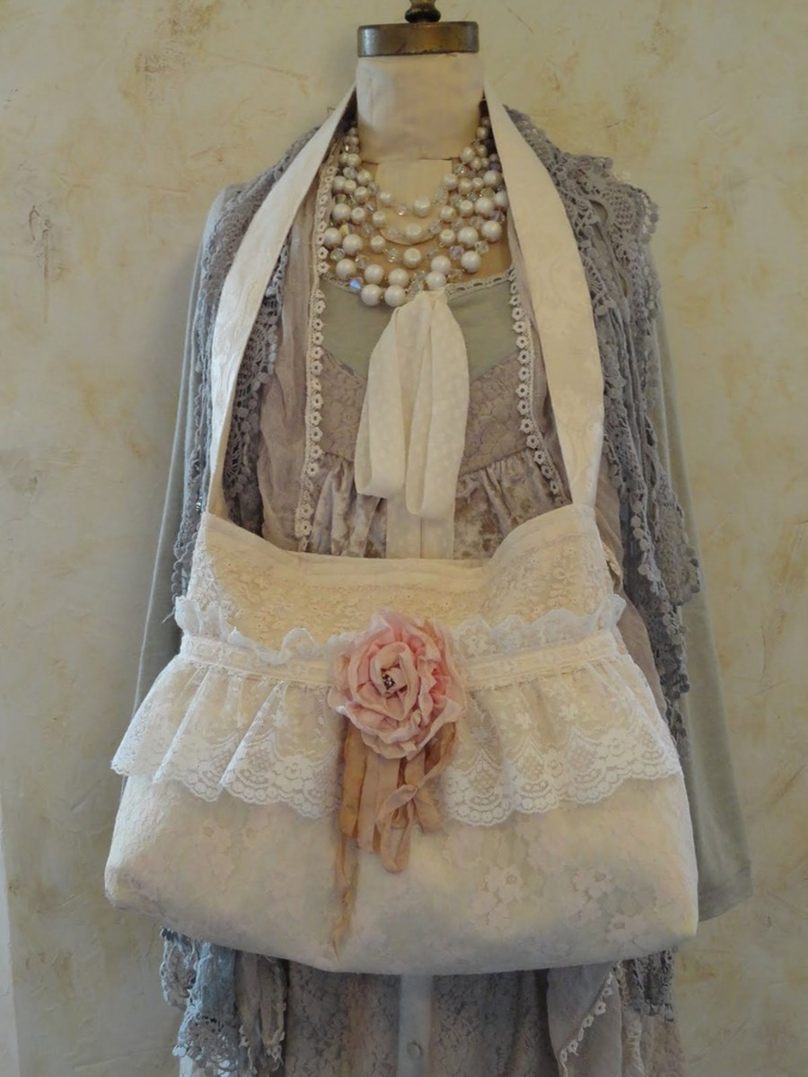Another beautiful lace over the shoulder handbag