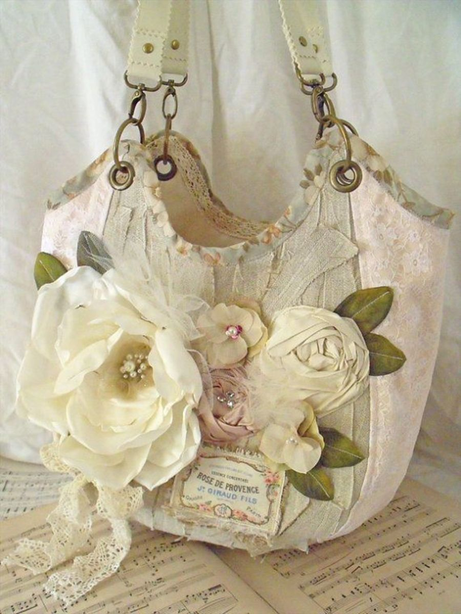Beautiful antique colors with lace and flowers