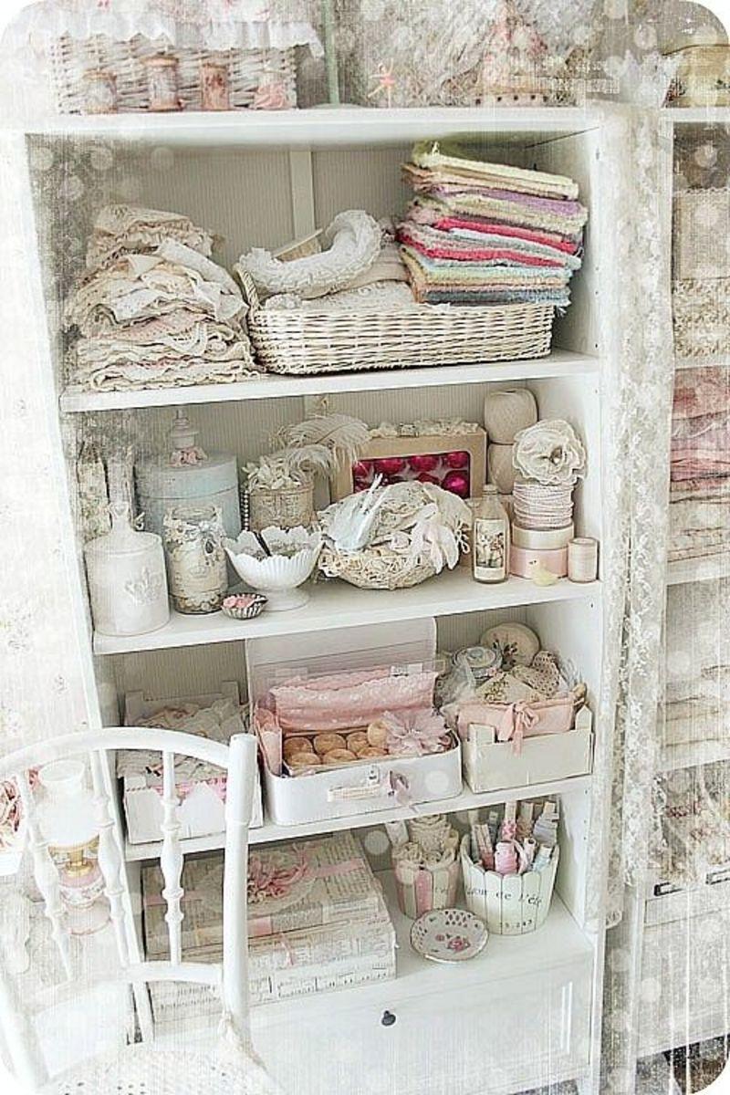 Very versatile shabby Chic shelves