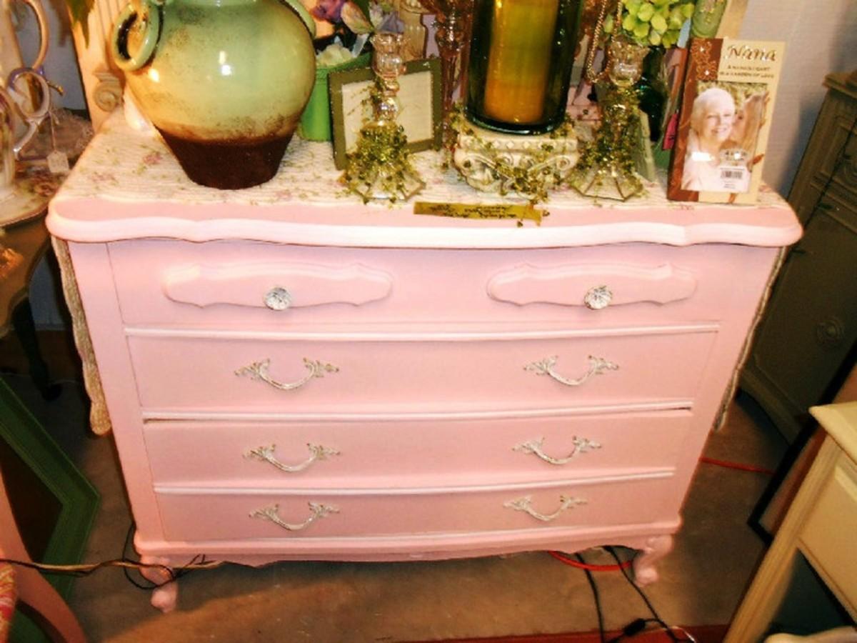 Pastel painted dresser
