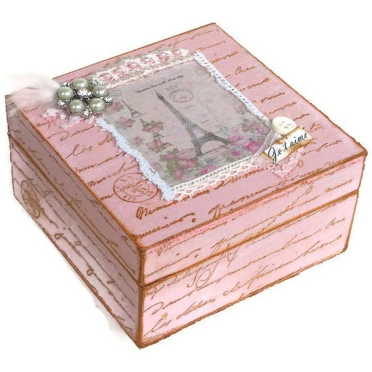 Parisian box, shabby chic style
