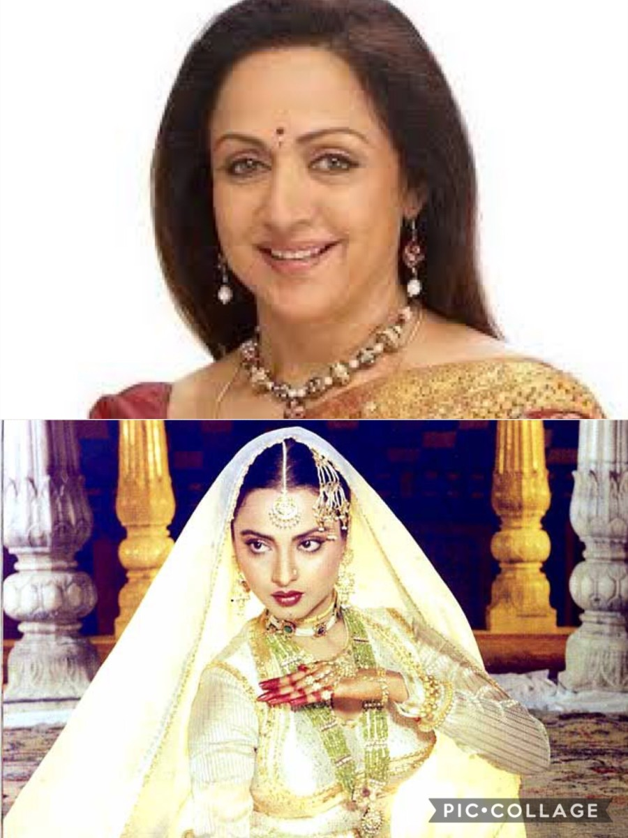 Beauty with grace and talent--Hema Malini and Rekha