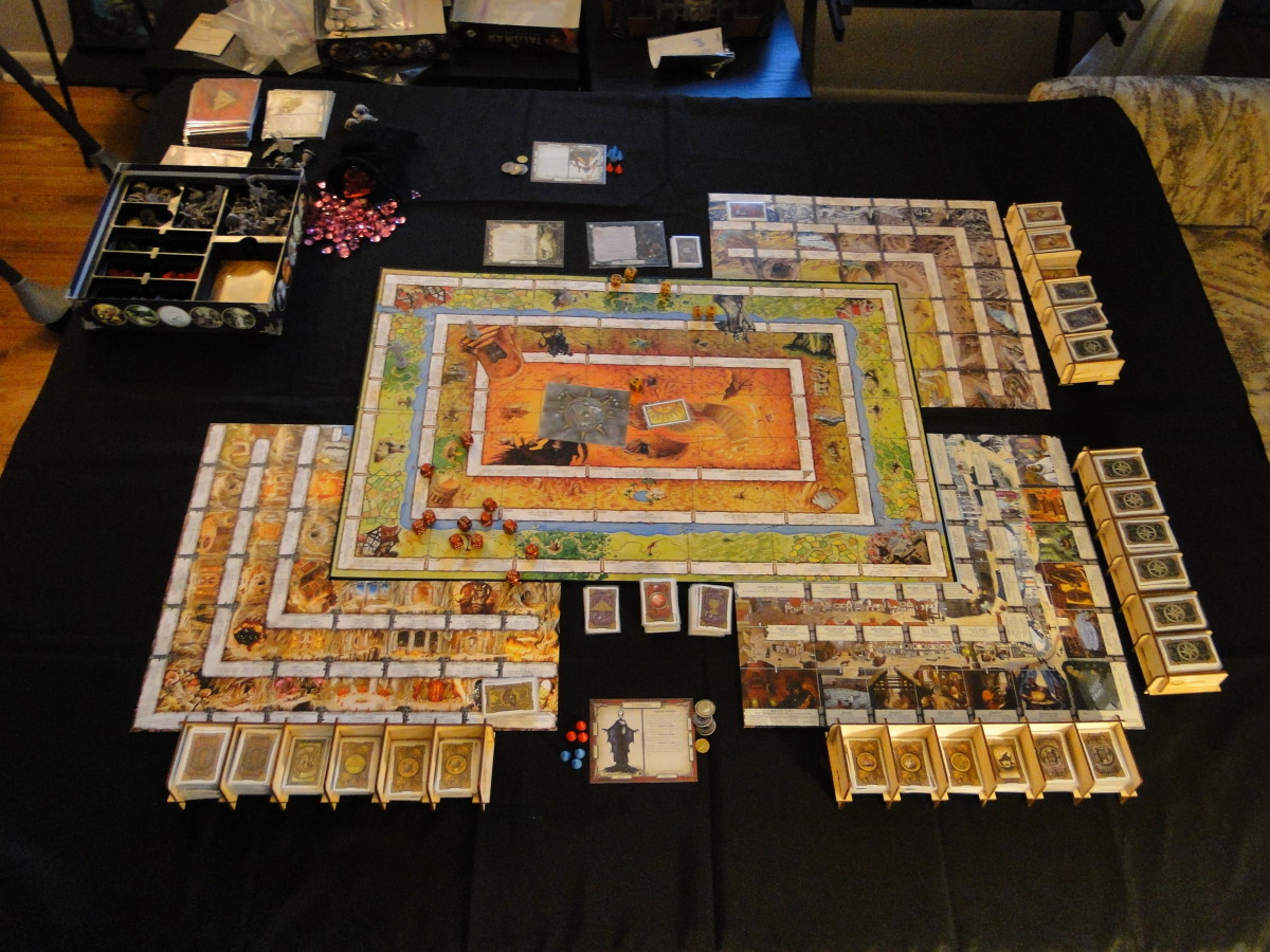 This is my typical setup. I have included information on all accessories pictured with the game here.