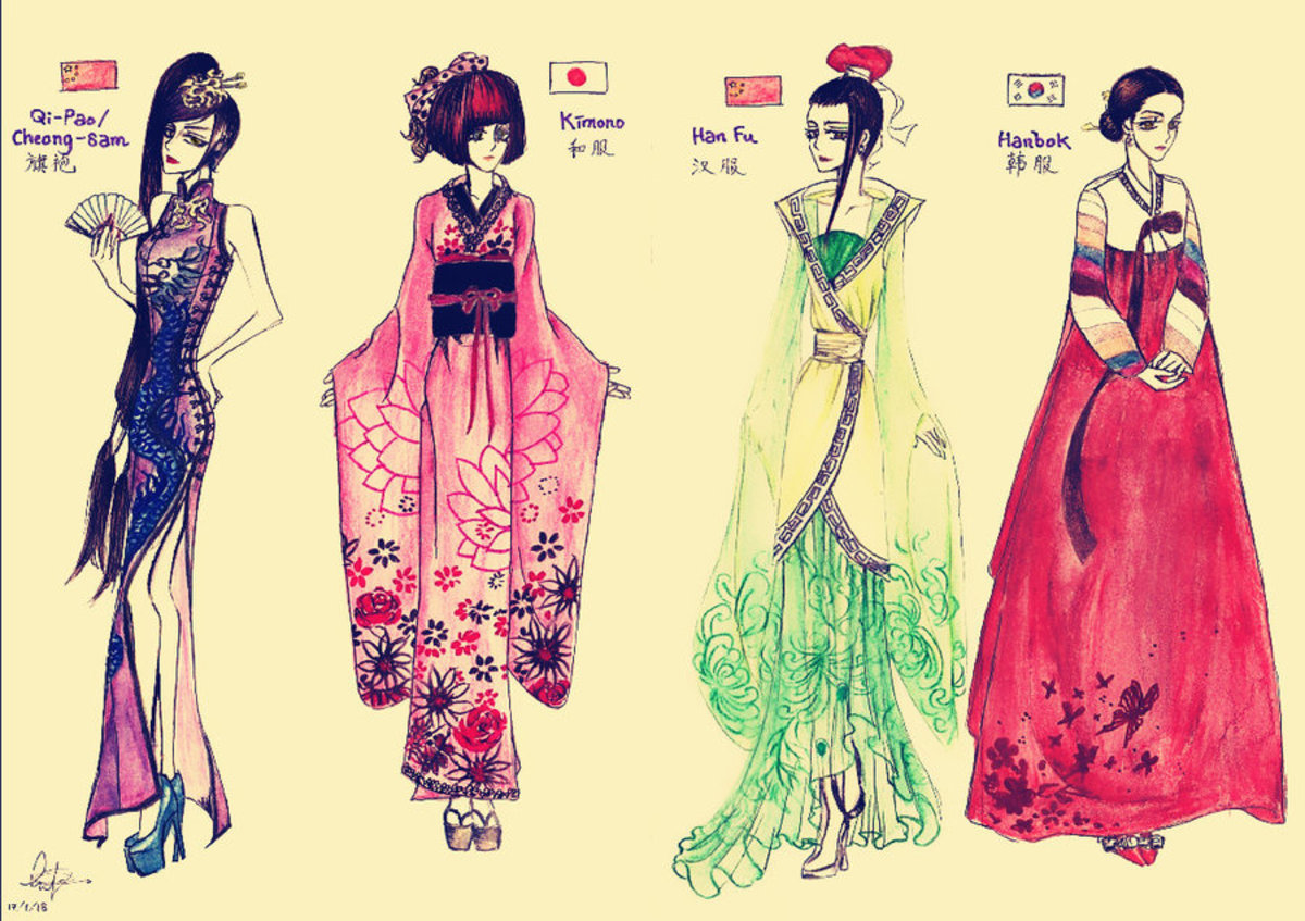 Asian Traditional apparel for women