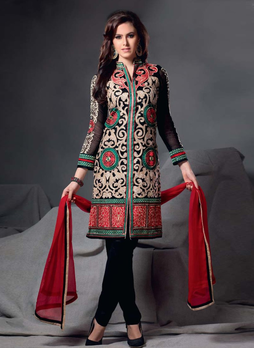 Churidar pants with kameez