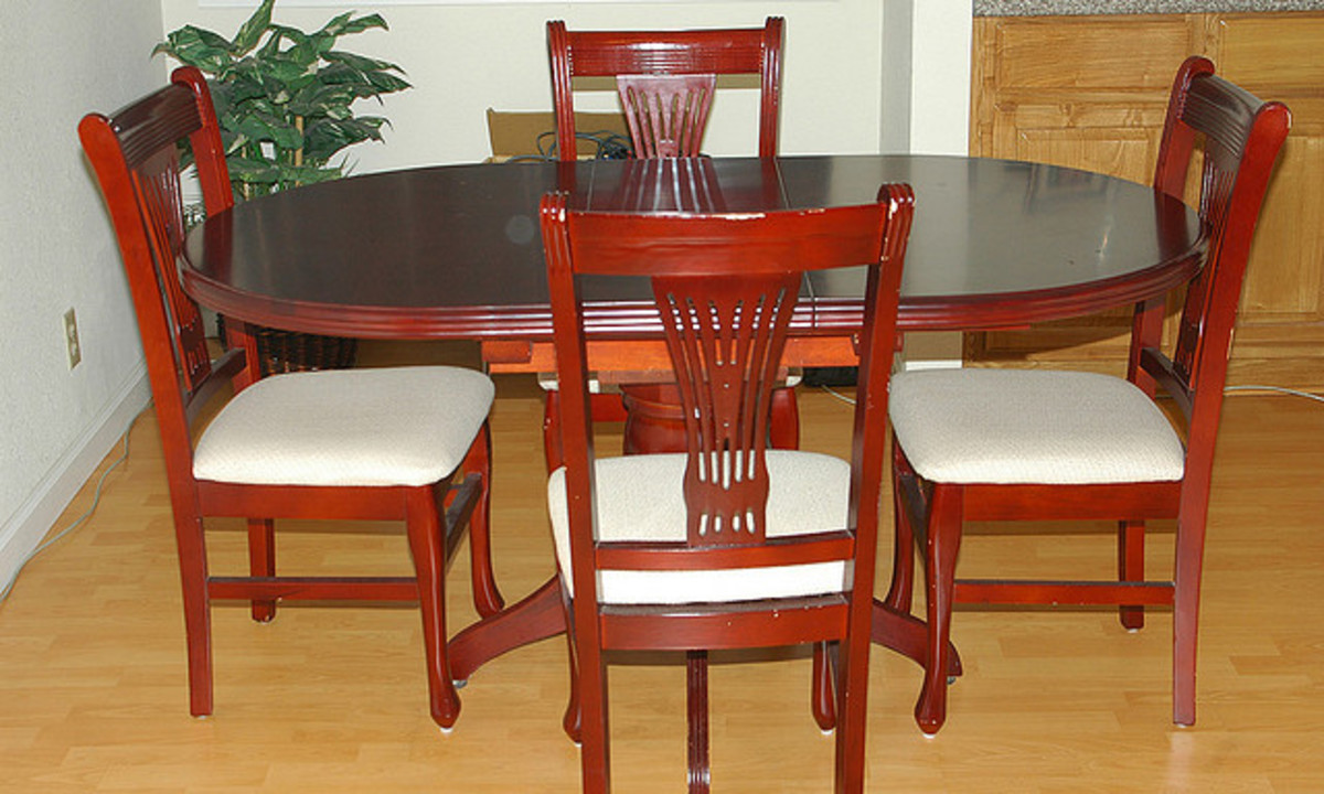 Replace outdated fabric with crisp, clean canvas to give your dining chairs an updated look.
