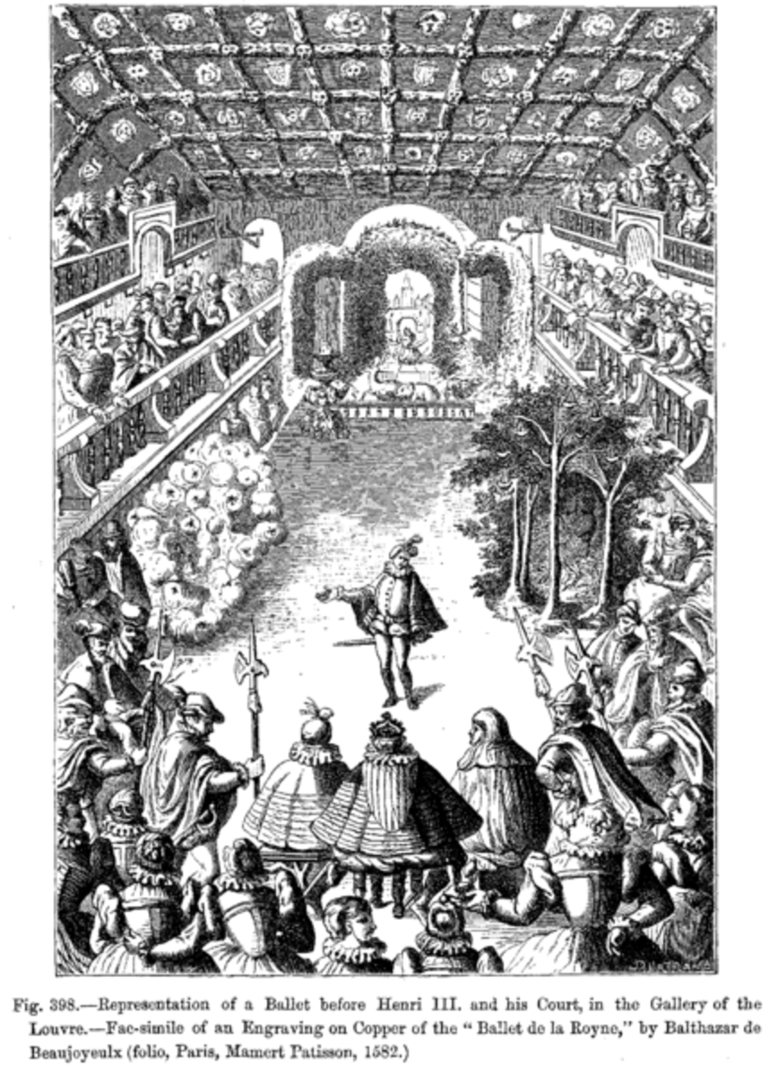 Italian Renaissance dancers performing for the French court.