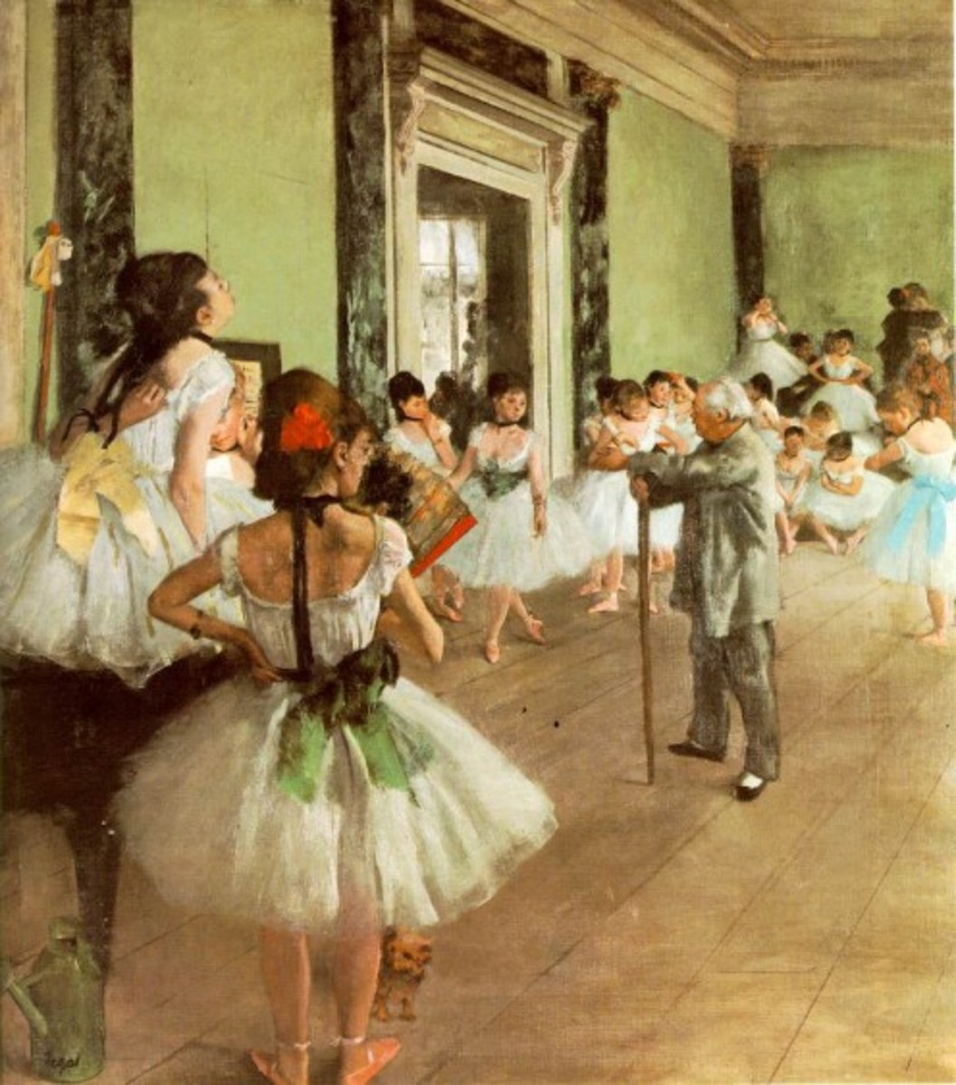 """Dance Class"" painted by Edgar Degas.  The dancers exemplify the tutus worn by ballerinas in the 19th century."