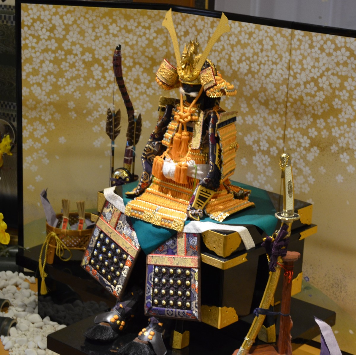 Samurai warrior display in Arima, Japan