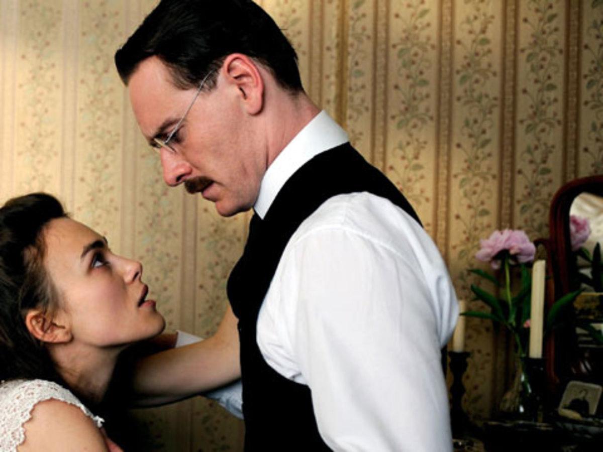 A Dangerous Method Starring: Keira Knightley as Sabina Spielrein